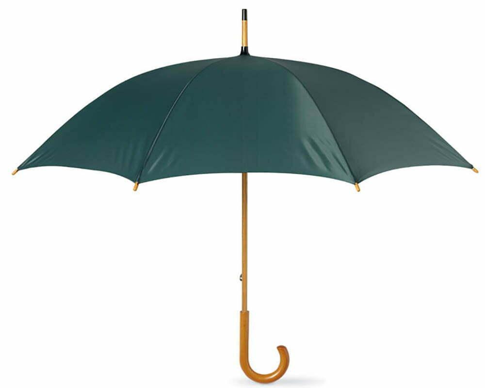 parapluie manuel publicitaire manche bois