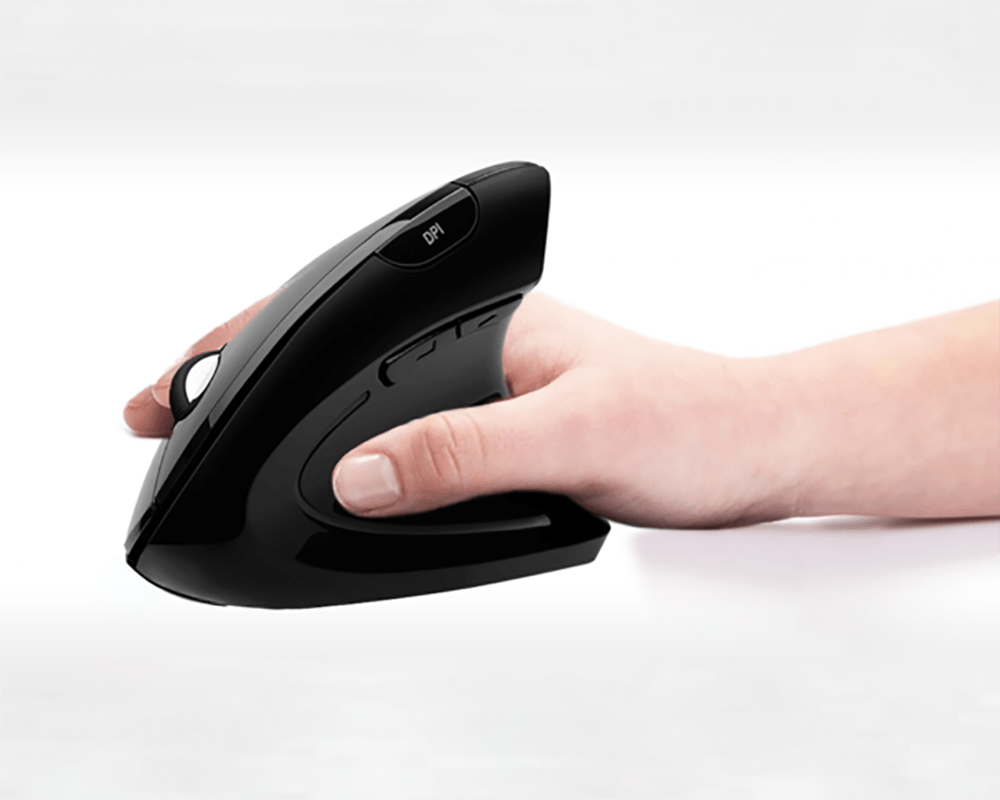 souris publicitaire verticale ergonomique sans fil