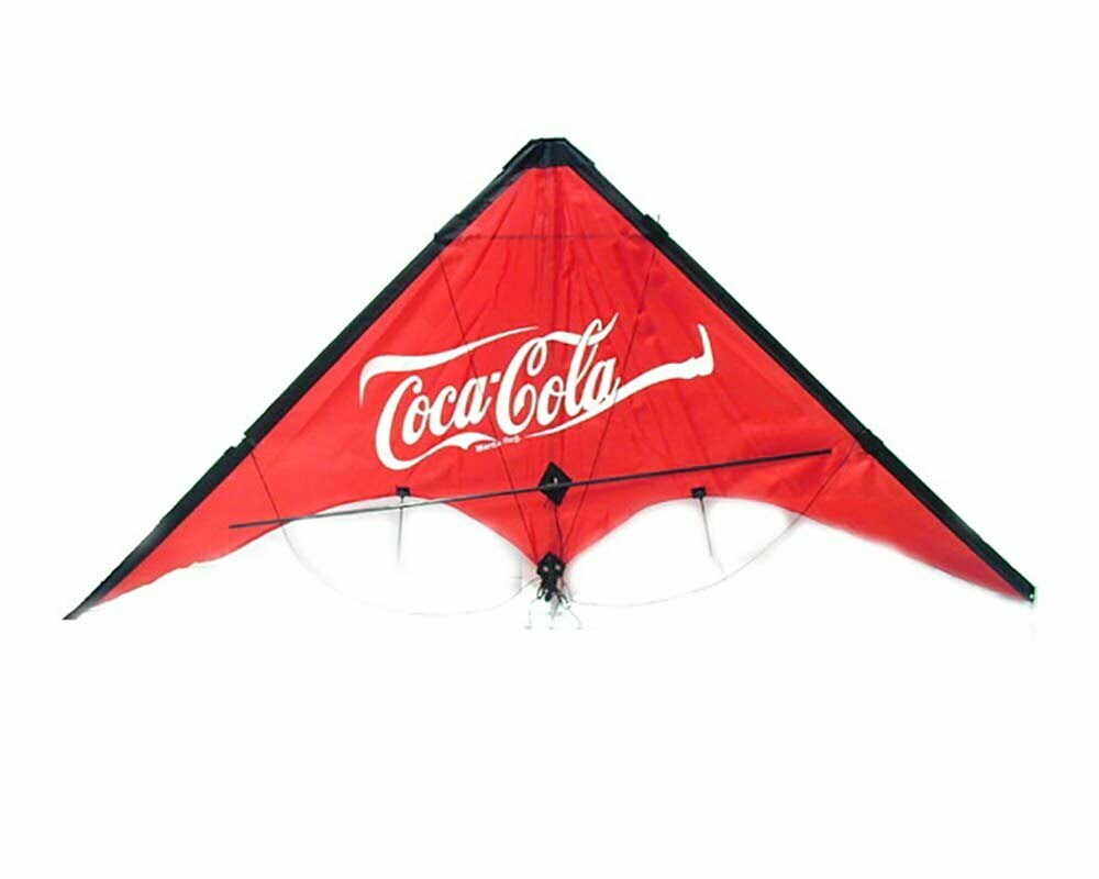 cerf volant triangle publicitaire coca cola