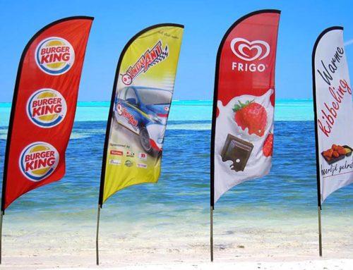 Beach Flag Drapeau oriflamme Publicitaire