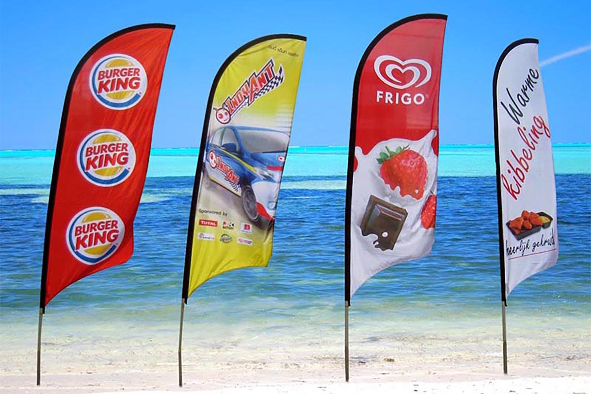 Drapeau Oriflamme Beach Flag Bannière