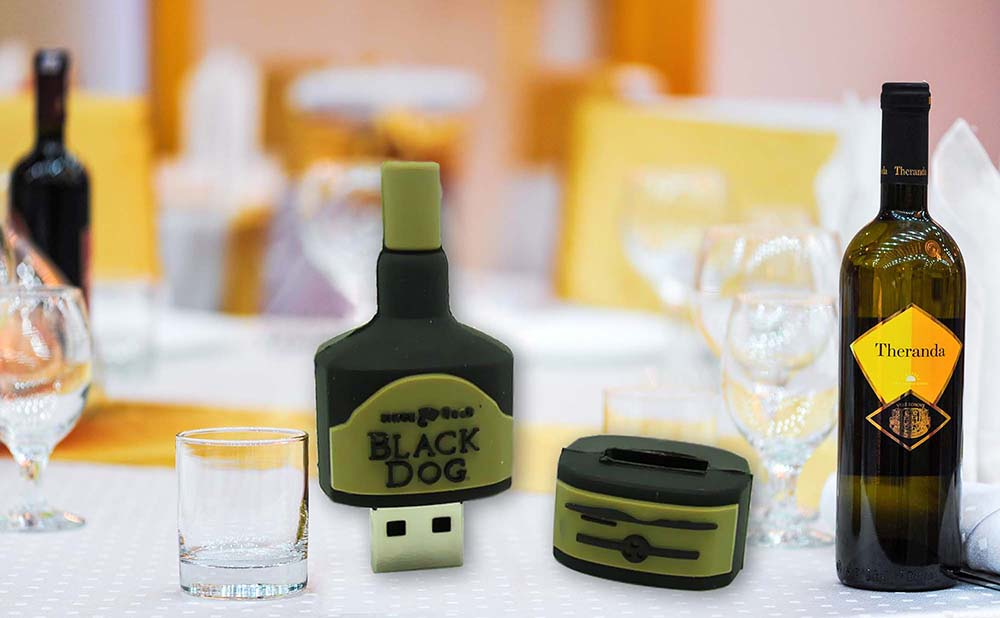 Clé USB Bouteille Wisky Vin