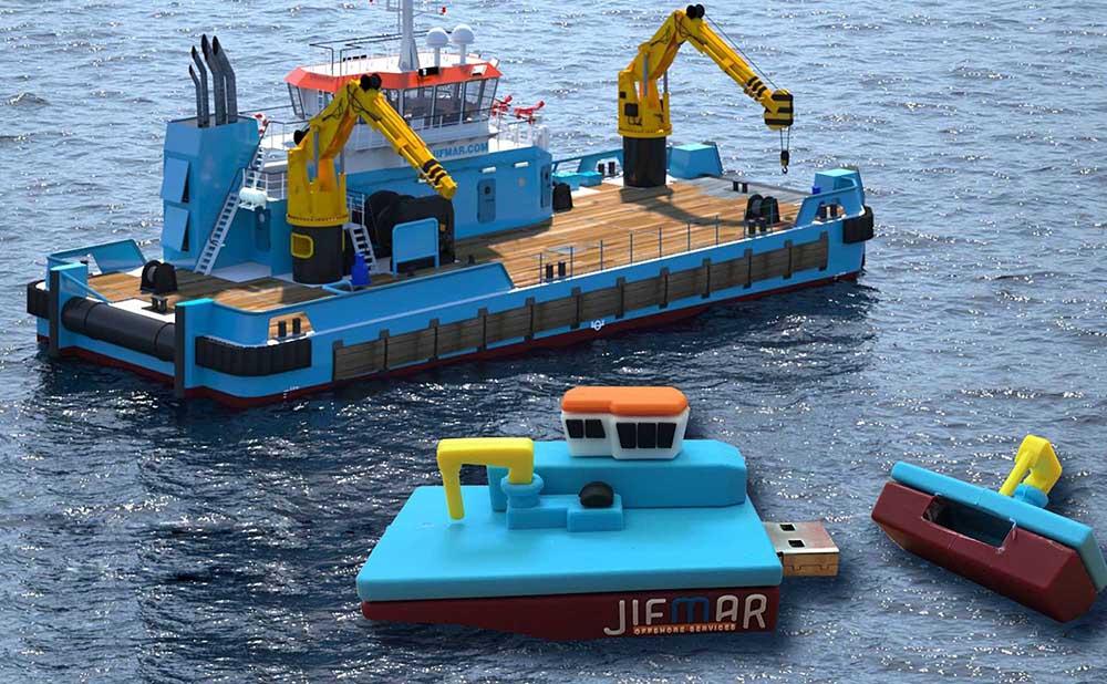Cle USB bateau maritime