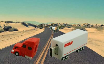 Cle USB camion transport voiture