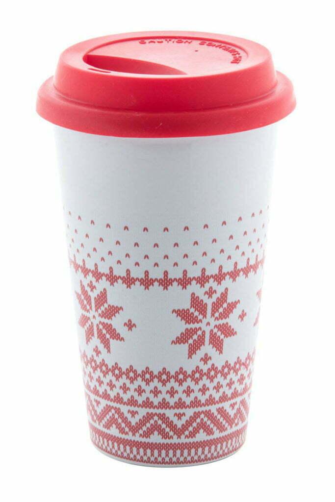 Mug avec couvercle décors Noël