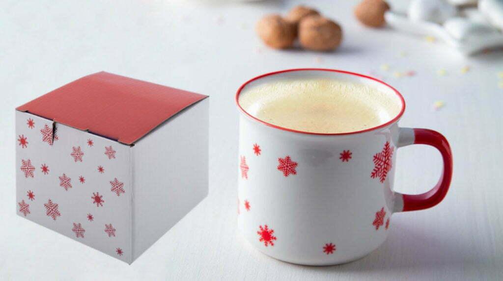 Boite Chope de Noël Vintage Rouge Boite