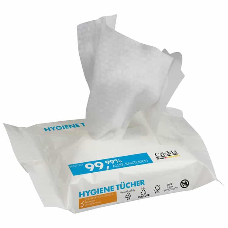 Lingettes hygiéniques désinfectantes